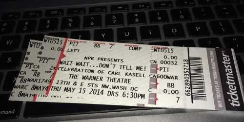 Tickets to Wait Wait... Don't Tell Me! at the Warner Theatre