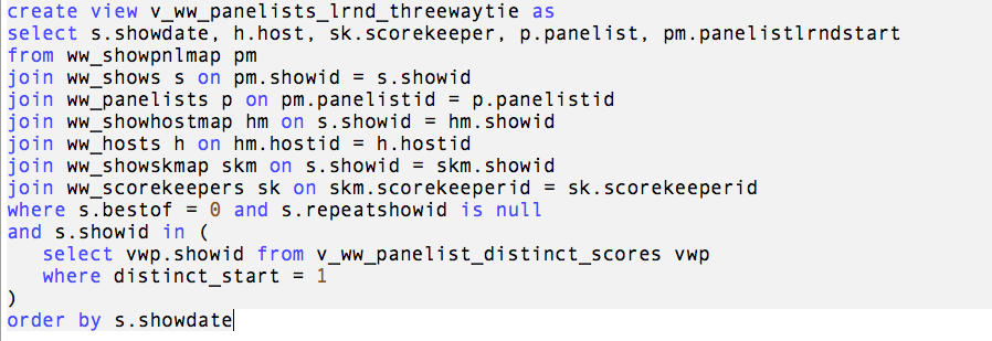 SQL Query for v_ww_panelists_lrnd_threewaytie